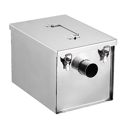 Yescom 8lbs 5GPM Gallon Per Minute Stainless Steel Grease Trap Interceptor by Yescom (Image #2)