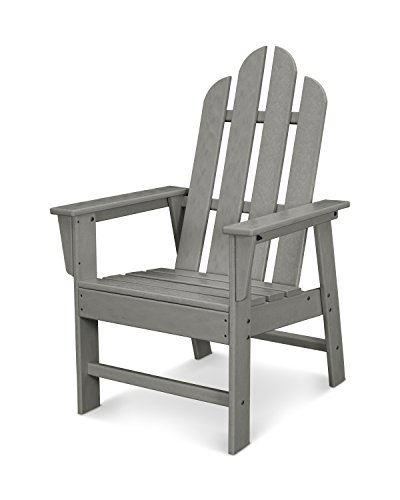 POLYWOOD ECD16GY Long Island Dining Chair, Slate Grey