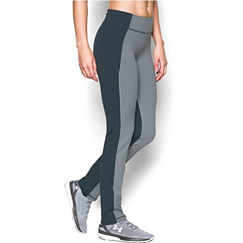 Under Armour Women's Mirror Straight Leg Pant, Steel/Stealth Gray, X-Small