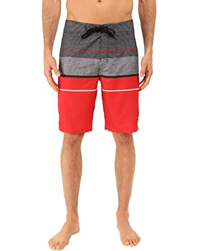 Silwave Men's Navigator High Performance Board Shorts, Red, Size 40