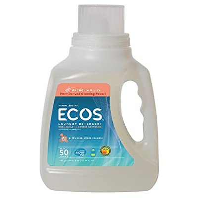 Earth Friendly Products ECOS Laundry Detergent, Magnolia Lily 50 fl oz (1500 ml)