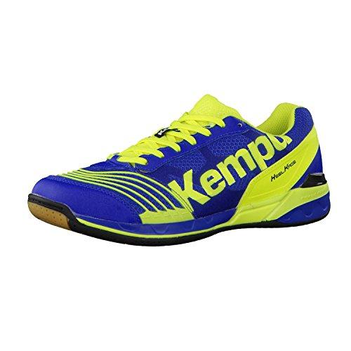 Kempa Attack Two - Zapatillas de baloncesto Unisex adulto Royal/Amarillo fluo