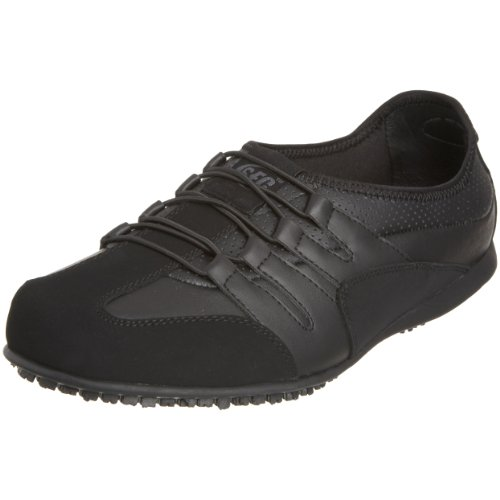 Shoes for Crews (SFC) - Zapatos de cordones de cuero para hombre negro negro, color negro, talla 40