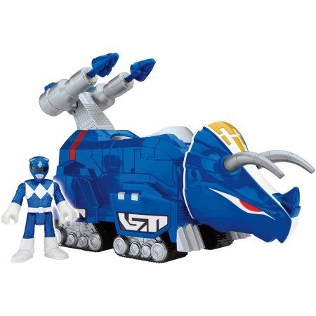 Fisher-Price Imaginext Power Rangers Blue Ranger and Triceratops WLM