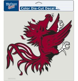 NCAA University of South Carolina 80608010 Perfect Cut Color Decal, 8