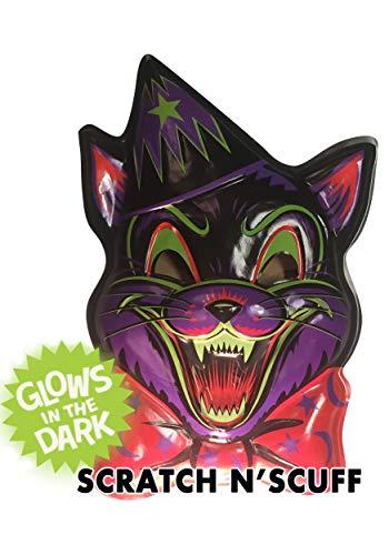 Retro-a-go-go Crazy Cat Vac-Tastic Plastic Mask Wall -