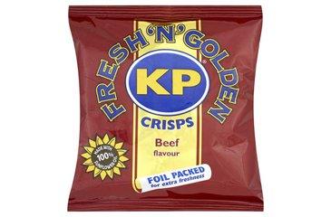 KP Beef Crisps (48 x 25g Bags)