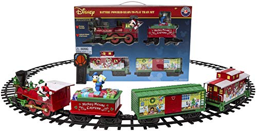 Lionel Disney Mickey Mouse Express Battery-powered Model Train Set Ready to Play w/ Remote (Best Train Set For Under The Christmas Tree)