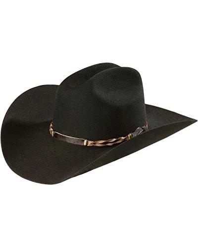 Stetson Men's 4X Portage Buffalo Felt Cowboy Hat Black 7 (Leather Hat Buffalo)