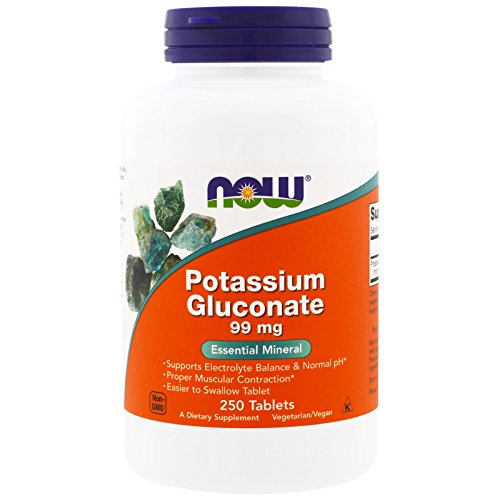 Now Foods Potassium Gluconate 99 Milligrams - 250 Tablets