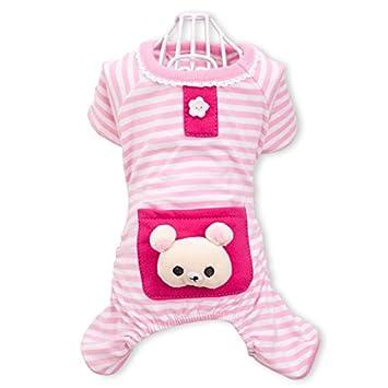 PETCUTE Cute Ropa para Perros Pijamas Ropa de Algodón Suave Ropa de Mascotas de Cuatro Patas Ropa para el Otoño Otoño Invierno Rosado: Amazon.es: Hogar