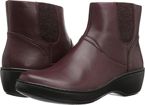 CLARKS Women's Delana Joleen Boot, Burgundy Leather, 9 M US