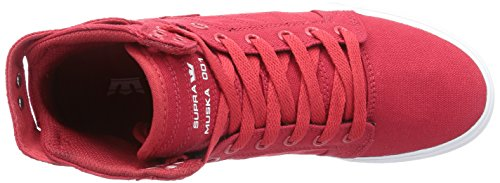 Supra SKYTOP D Unisex-Erwachsene Hohe Sneakers Rot (RED - WHITE RED)