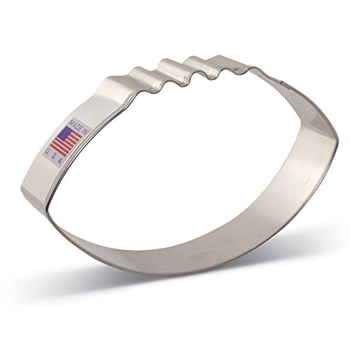 Large Football Cookie Cutter - 4.125 Inch - Ann Clark - US Tin Plated Steel