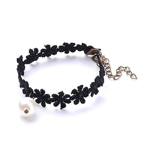 Fashewelry Black Gothic Victorian Lace Bracelet Punk Vampire Vintage Handmade Bracelet (Style 2)