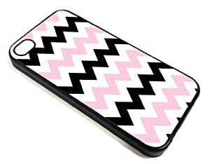 Good-will - Pink Black Chevron Zigzag Design Cellphone Case for Iphone 4 4s Apple 4g ,Hard Case Skin Cover Protector Accessory,hard Plastic Cover +With Gift