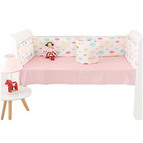 Cotton Newborn Crib Bumper Pads - 5 Pieces Set Bumper for Un