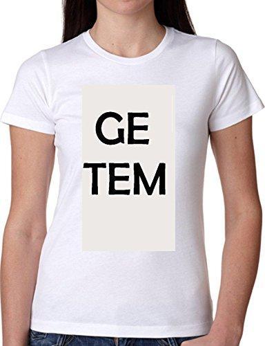 T SHIRT JODE GIRL GGG22 Z0841 GE TEM MEME WHITE BLACK HARD LIFESTYLE FASHION COOL BIANCA - WHITE XL