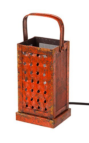 - Cape Craftsmen Antique Red Vintage Cheese Grater Lamp