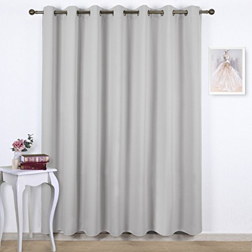 NICETOWN Room Divider Blackout Curtains, Grey /Beige /Black /White  /Cappuccino Color Option, 8 15ft Wide X ...