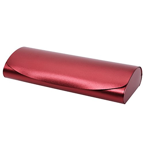 Philley Aluminum Ultra-Light Frosted Matte Myopia Eyeglasses Glasses Case (B-Red)