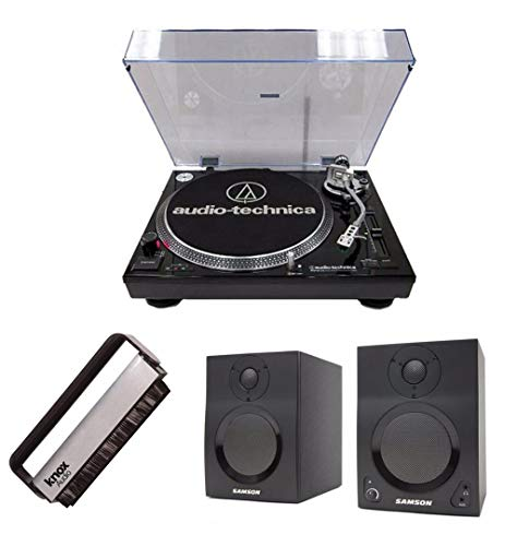 Audio-Technica AT-LP120-USB Turntable w/ Samson SAMBT3 Bluet