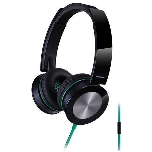 Panasonic Rp-hxs400m-k Sound Rush Plus On-Ear Headphones with Microphone (Black)