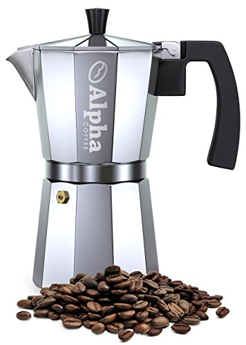 Stovetop Coffee Maker Handle : Alpha Coffee 6-Cup Stovetop Espresso Maker Moka Pot With Extra Large Handle To Prevent Burns ...