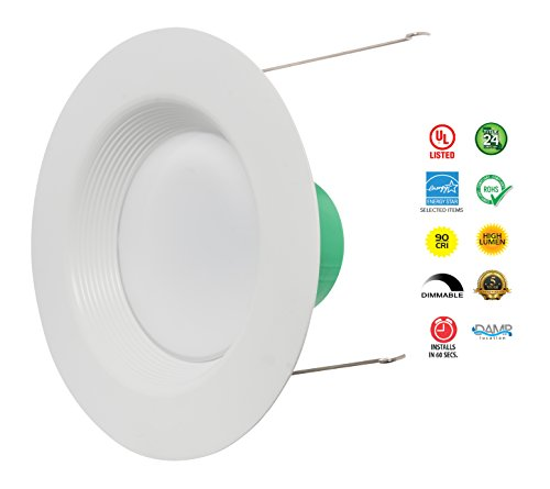 Westgate Lighting 18W 6 Inch LED Retrofit Downlight With Integrated Baffle Trim - Dimmable LED Recessed Light Fixture Kit For Home, Kitchen,Office - 120V High Lumen (8 Pack, 2700k Warm White) by Westgate (Image #6)