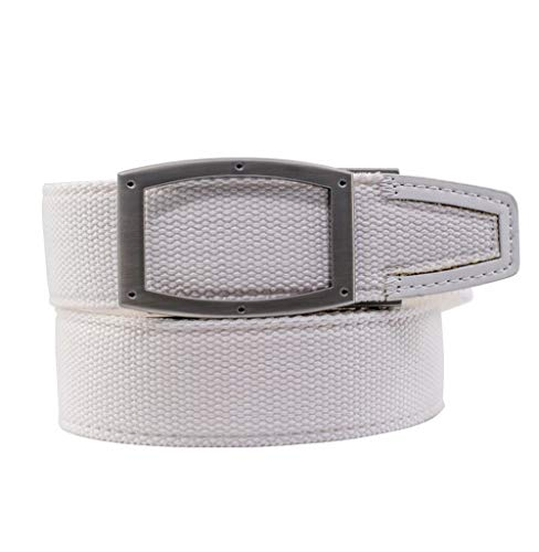Nexbelt Newport 2019 White Nylon with Leather Tip Golf Belt
