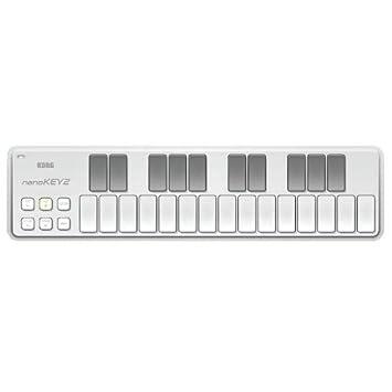 Korg nanoKEY2 Teclado Controlador USB Midi DAW Blanco: Amazon.es: Juguetes y juegos