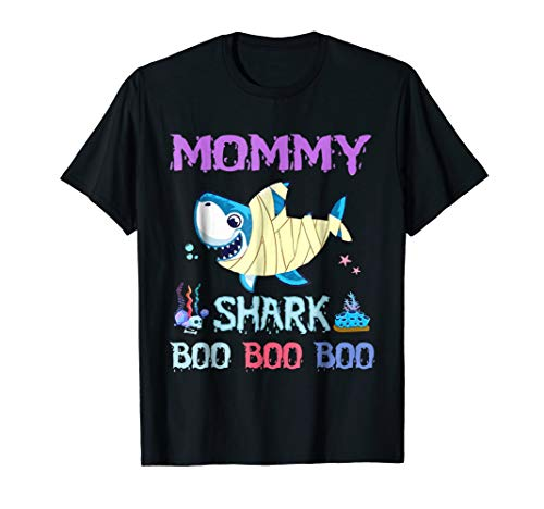 Mommy Shark boo boo boo Halloween Costume T-Shirt -