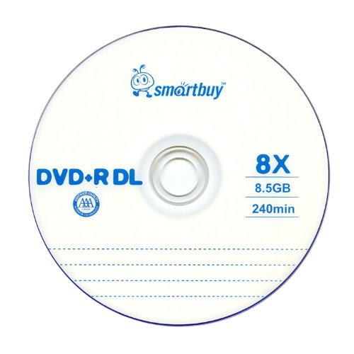 Smartbuy 8.5gb/240min 8x DVD+R DL Dual Layer Double Layer Logo Blank Media Disc Spindle (200-Disc) by Smartbuy (Image #2)