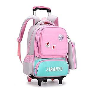 Zaino trolley, zaino trolley leggero zaino scuola ragazza in nylon scuola elementare trolley scuola media per bambini… 19 spesavip