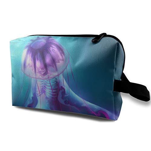 SUNGTER Aliens Look Like Jellyfish Travel Cosmetic Bag for Women Or -