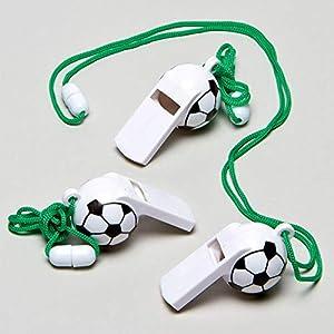 Baker Ross Sifflets Ballon de foot (Lot de 6) - Petits cadeaux pour pochettes surprises pour les enfants 10