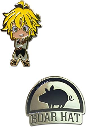 Seven Deadly Sins: Meliodas and Boar Hat Group Metal Pins