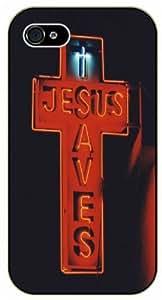 Jesus saves - Vintage vacancy light - Bible verse For Iphone 5/5S Case Cover black plastic case / Christian Verses