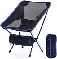 Uraclaire Camping Chair Portable Lightweight Compact Folding Backpack Chair Suitable for The Outdoors, Camping