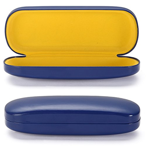 ALTEC VISION Medium Size Hard Shell Glasses Sunglasses Case - Blue/Yellow
