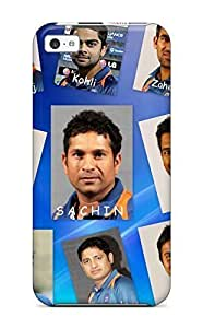 Diy For Iphone 5C Case Cover Cover - Slim Fit PC Protector Shock Absorbent Case (2011 Team India World Cup)