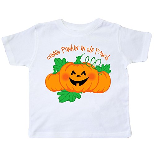 inktastic Cutest Punkin' in The Patch Toddler T-Shirt 3T White