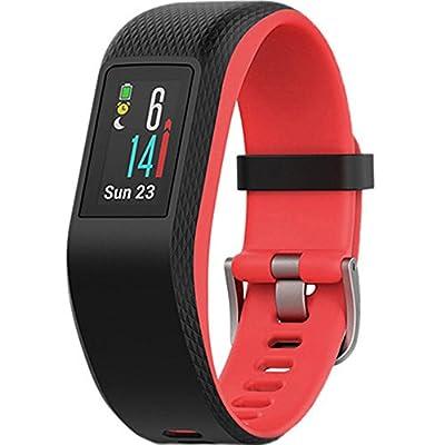 Garmin Vivosport Smart Activity Tracker + Built-in GPS (Fuchsia, S/M) 010-01789-11 + 7 Pieces Fitness Kit