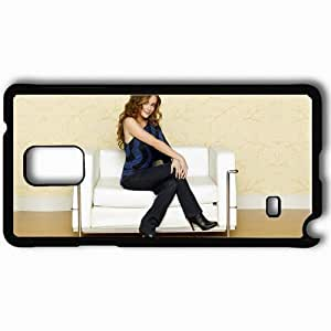 Personalized Samsung Note 4 Cell phone Case/Cover Skin Alyssa Milano Black