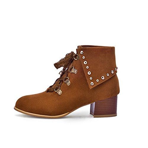 Rivet Frosted Bandage BalaMasa Boots Riband Studded Girls Coffee qXgwCxwI