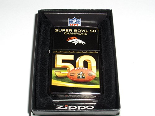 Broncos Zippo Denver Nfl Lighter (Zippo NFL Denver Broncos Super Bowl 50 Champions Pocket Lighter)
