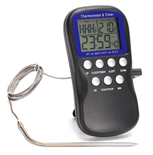 Blive Digital Premium Meat Thermometer with Probe DTH-11K. (Smoker Rack Thermometer compare prices)