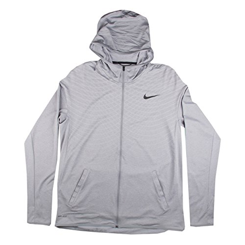 Nike Ultimate Dry Men's Training Hoodie, Wolf Grey/White/Black, X-Large