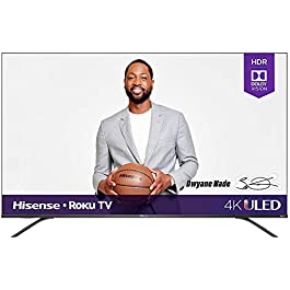 Hisense 65-Inch Class R8 Series Dolby Vision & Atmos 4K ULED Roku Smart TV with Alexa Compatibility and Voice Remote…