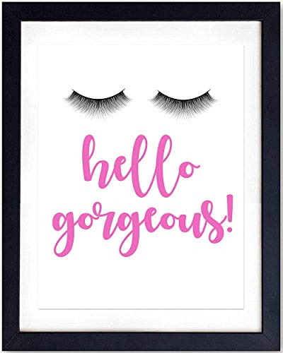 Wall Art Print Typography - 8x10 Unframed Photo - Makes a Great Gift for Home Decor - Hello Gorgeous